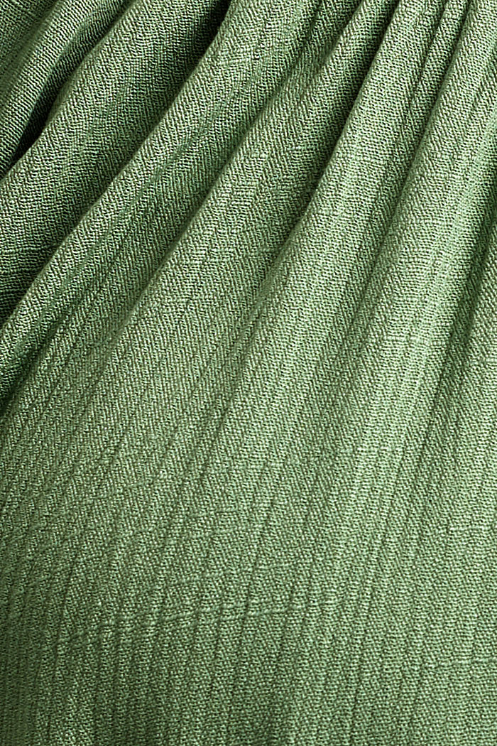 Crinkle blouse made of LENZING™ ECOVERO™, LEAF GREEN, detail image number 4