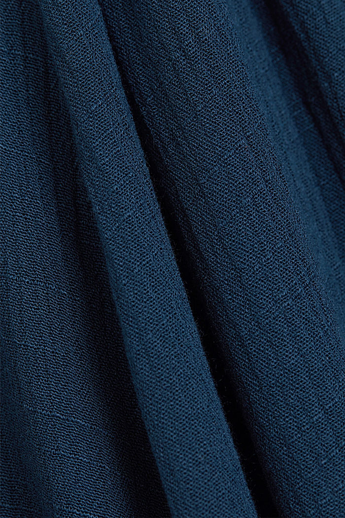 Crinkle blouse made of LENZING™ ECOVERO™, NAVY, detail image number 4