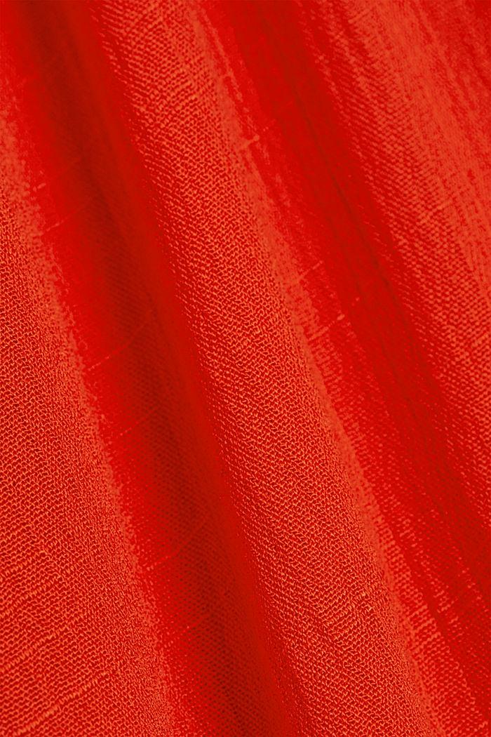 Crinkle blouse made of LENZING™ ECOVERO™, ORANGE RED, detail image number 4