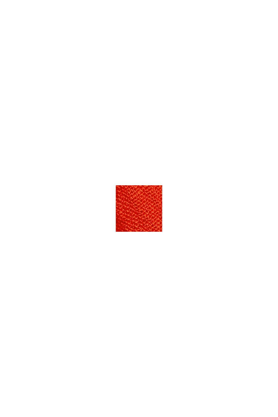 Krinklad blus i LENZING™ ECOVERO™, ORANGE RED, swatch