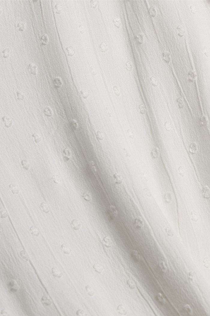 Blouse met plumetis van viscose, OFF WHITE, detail image number 4