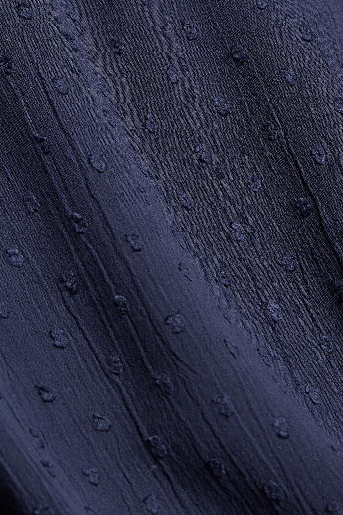 Viscose plumetis blouse, NAVY, detail image number 4
