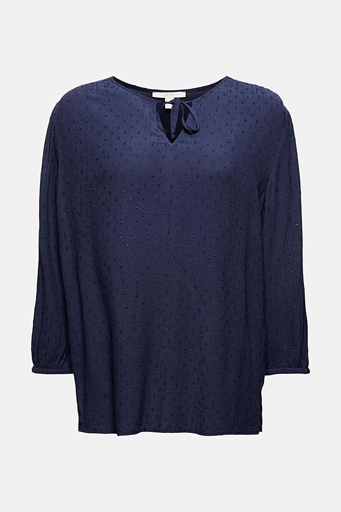 Viscose plumetis blouse, NAVY, detail image number 5