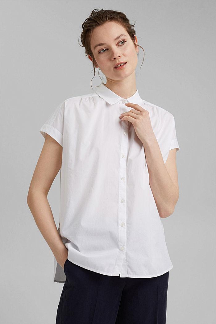 Kurzärmelige Oversize-Bluse