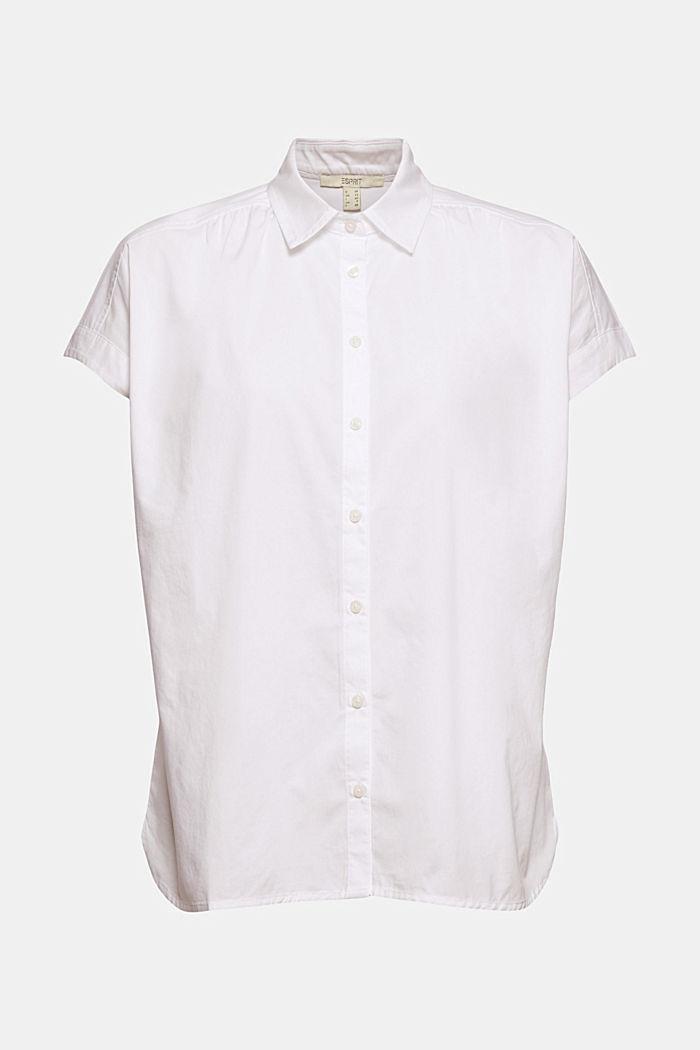 Oversized blouse met korte mouwen