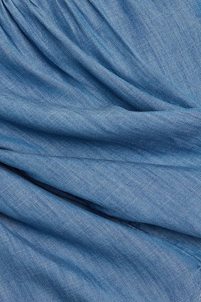 Aus TENCEL™: Bluse im Denimlook, BLUE MEDIUM WASHED, detail image number 4