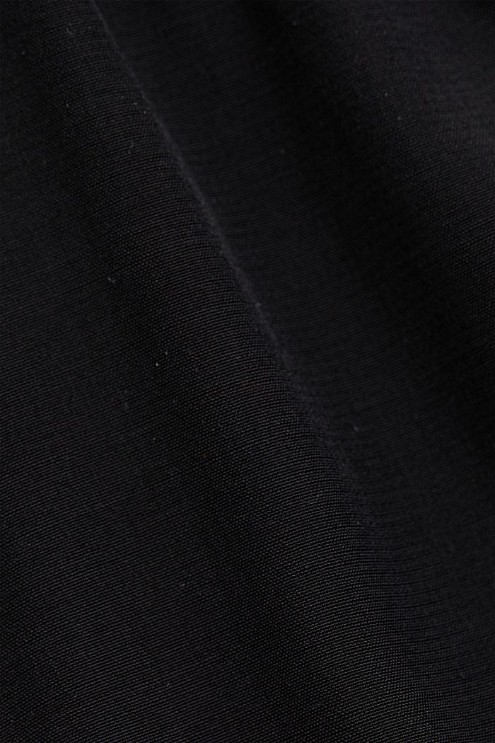 Top blusato con LENZING™ ECOVERO™, BLACK, detail image number 4