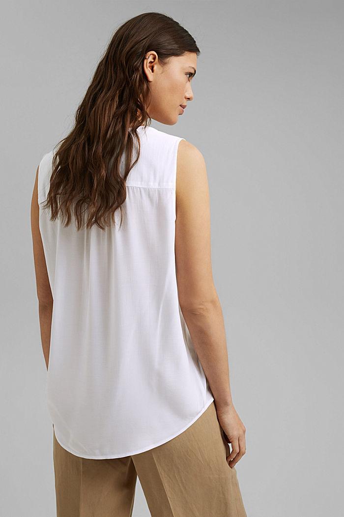 Blusen-Top mit LENZING™ ECOVERO™, WHITE, detail image number 3