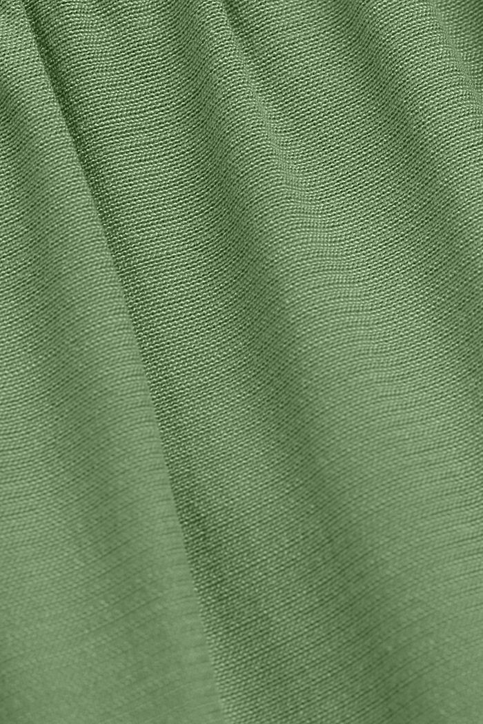 Bluzkowy top z LENZING™ ECOVERO™, LEAF GREEN, detail image number 4