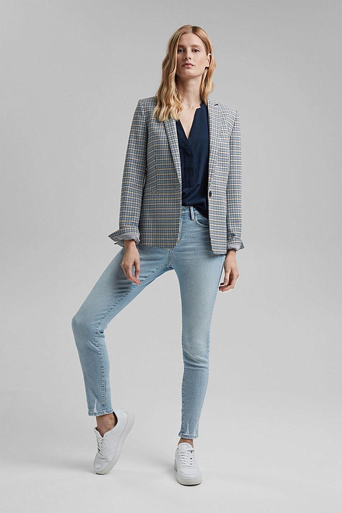 Top façon blouse à teneur en fibres LENZING™ ECOVERO™, NAVY, detail image number 1