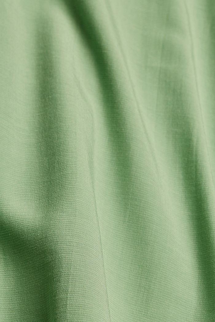 Blousetop met LENZING™ ECOVERO™, LEAF GREEN, detail image number 4