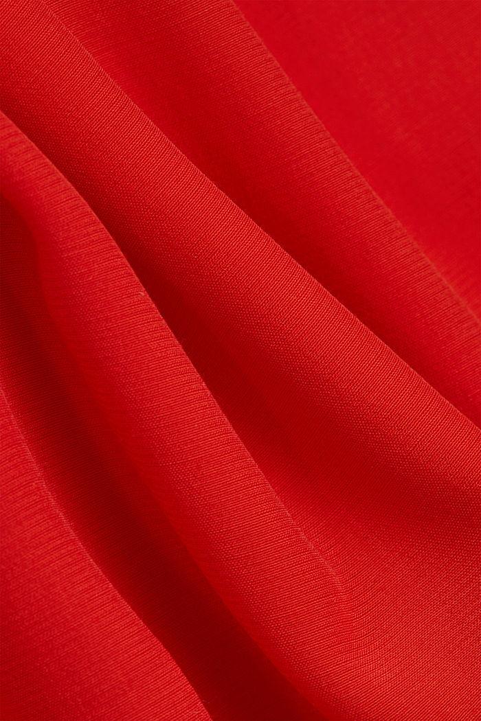 Top façon blouse à teneur en LENZING™ ECOVERO™, ORANGE RED, detail image number 4