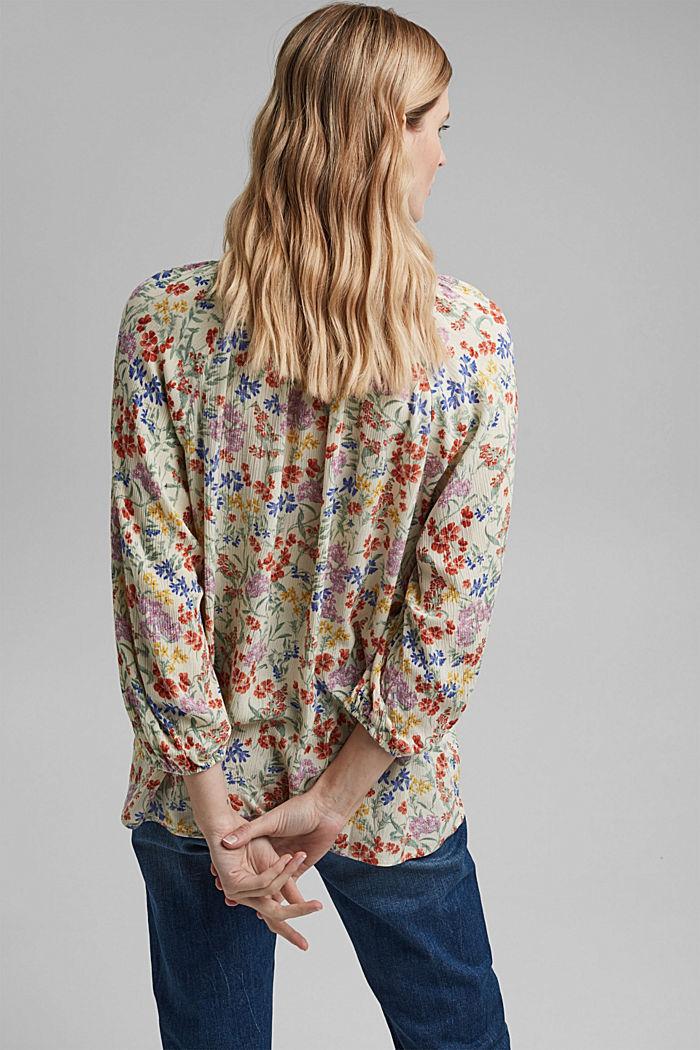 Crinkle-blouse met millefleursprint, OFF WHITE, detail image number 3