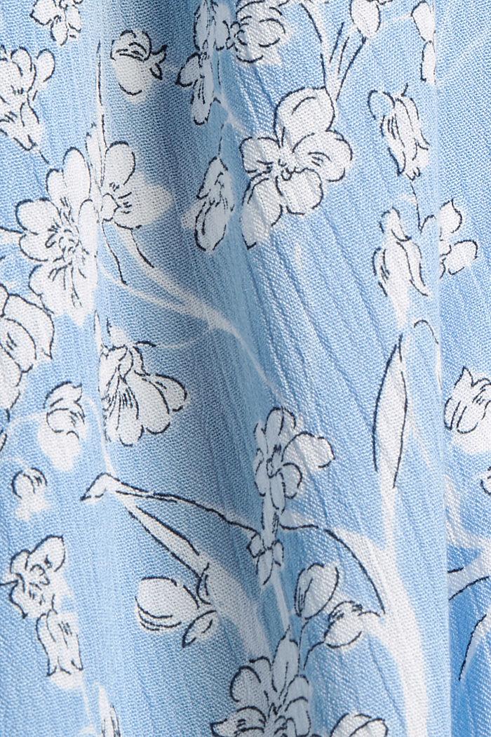 Chemisier froissé à fleurs, 100% LENZING™ ECOVERO™, LIGHT BLUE, detail image number 4
