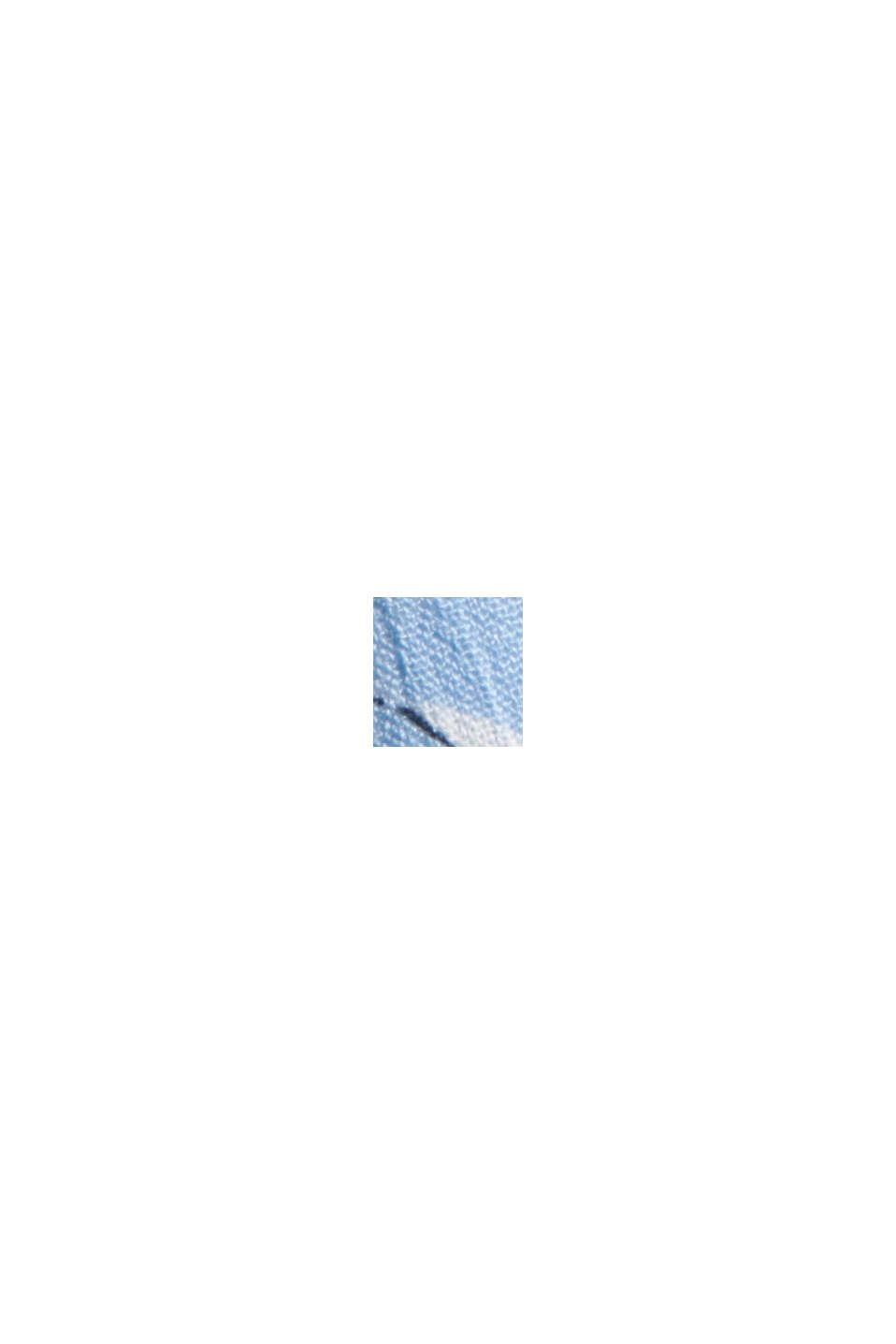 Floral crinkle blouse, 100% LENZING™ ECOVERO™, LIGHT BLUE, swatch