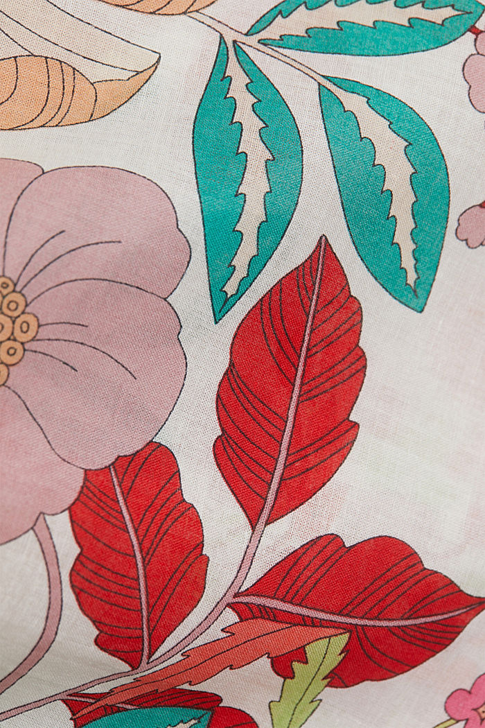 Blouse met korte mouwen en bloemenprint, OFF WHITE, detail image number 4