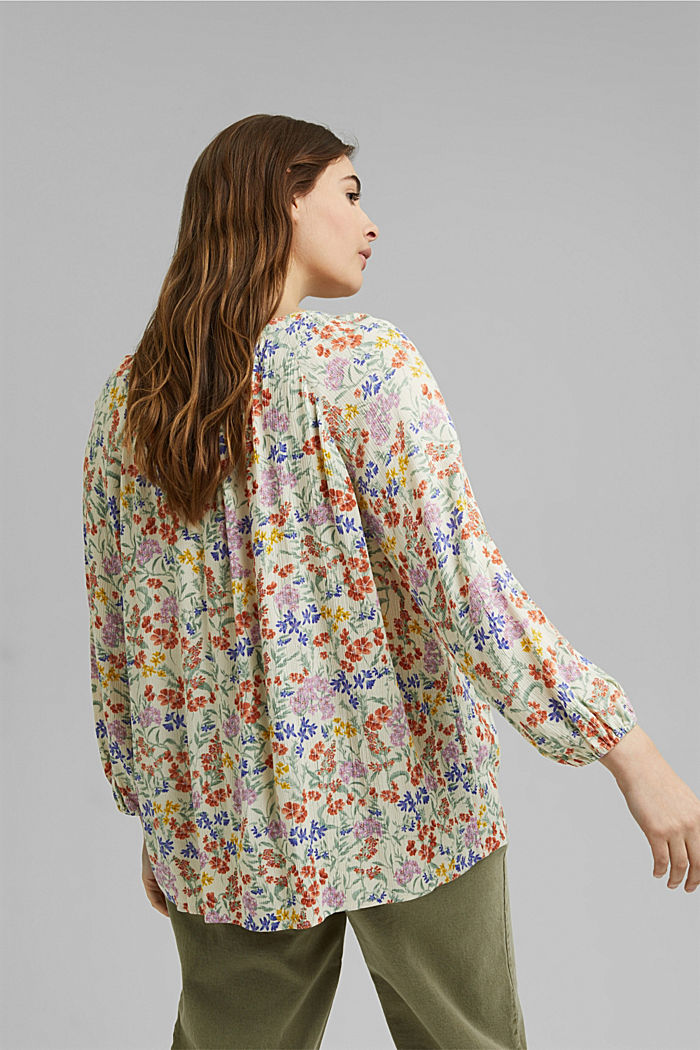 CURVY Print-Bluse aus LENZING™ ECOVERO™, OFF WHITE, detail image number 3