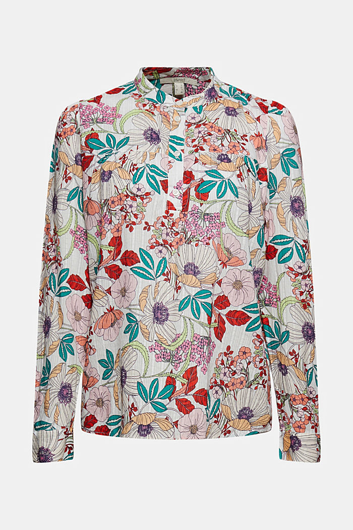 Floral printed blouse, 100% organic cotton