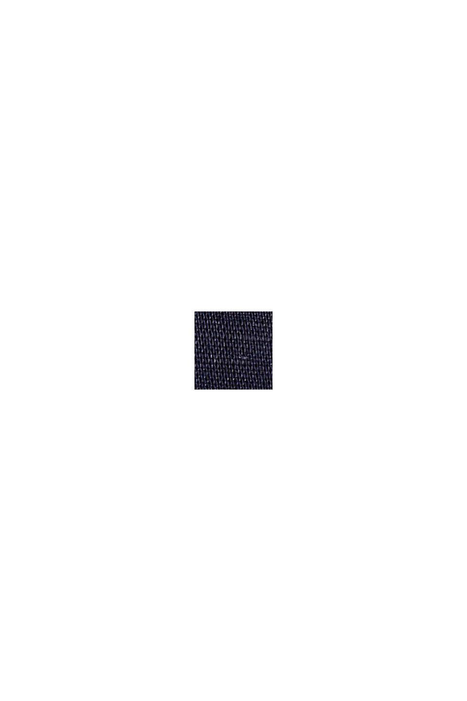 Lange Bluse mit Gürtel aus Leinen-Mix, NAVY, swatch