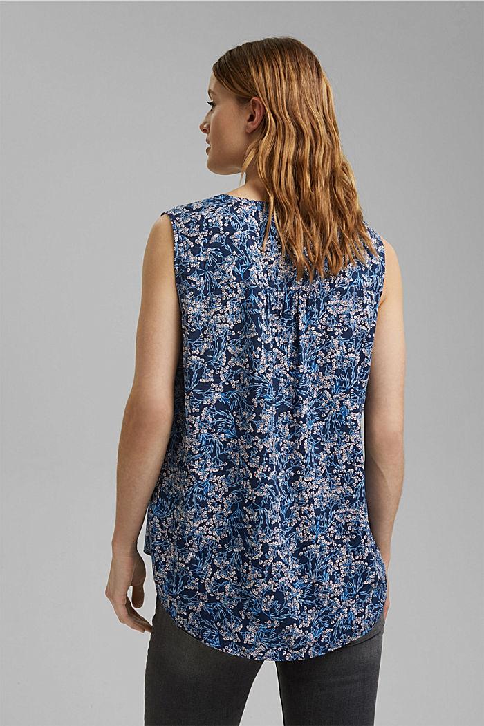 Top façon blouse à imprimé, NAVY, detail image number 3