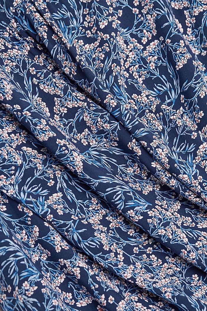 Top façon blouse à imprimé, NAVY, detail image number 4