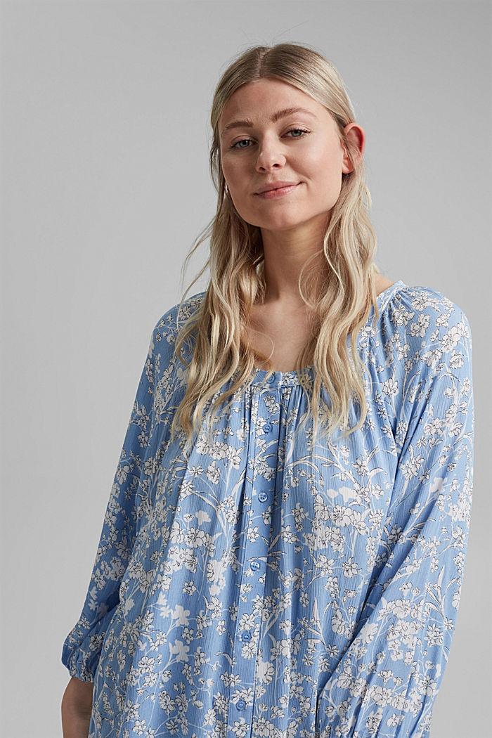 CURVY Print-Bluse aus LENZING™ ECOVERO™, LIGHT BLUE, detail image number 5