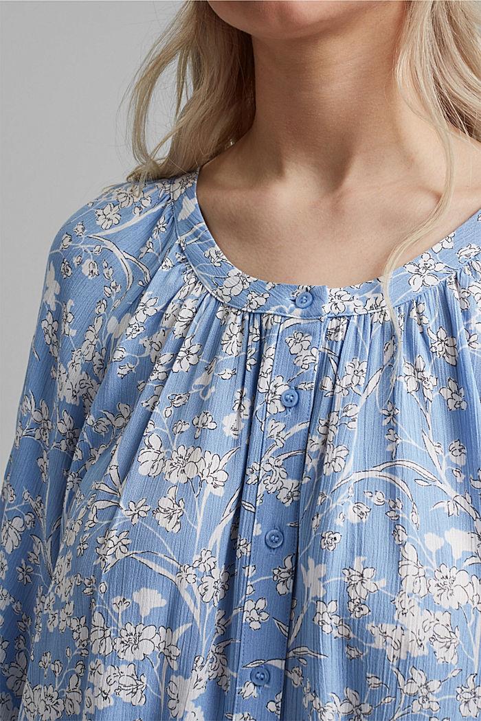 CURVY Print-Bluse aus LENZING™ ECOVERO™, LIGHT BLUE, detail image number 2