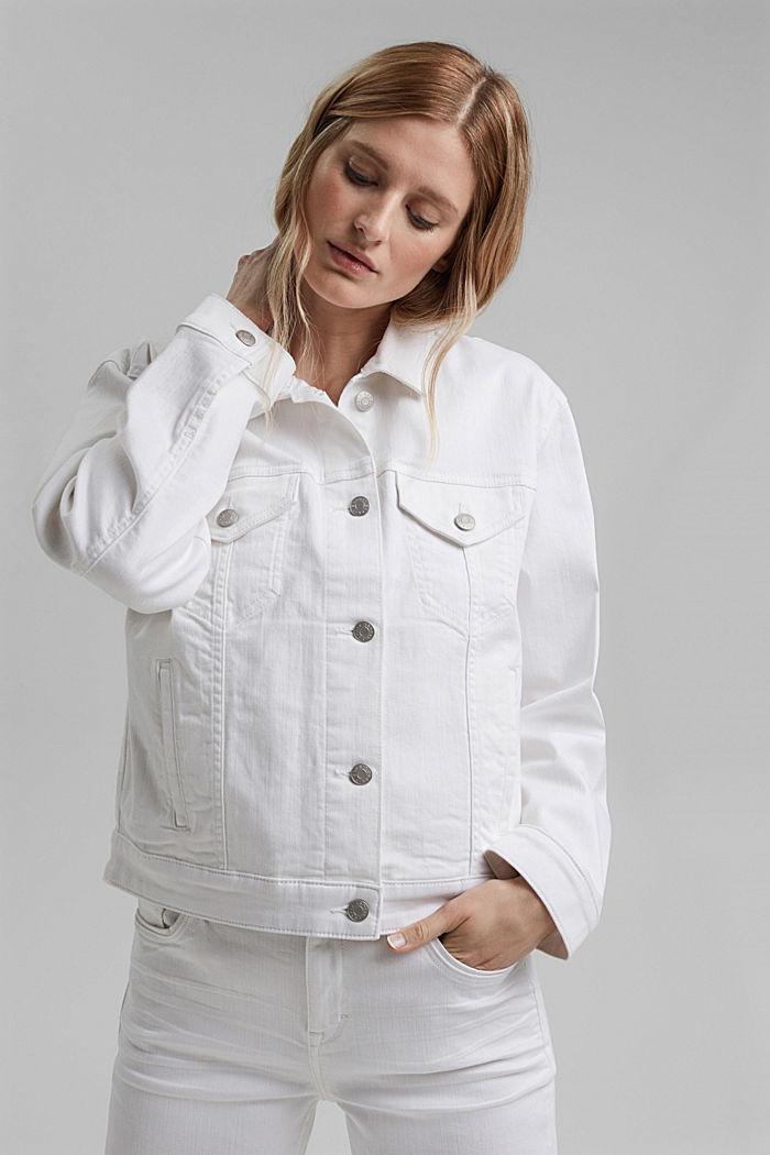 Denim jack met een oversized look, WHITE, detail image number 0