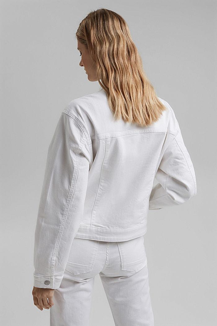 Denim jack met een oversized look, WHITE, detail image number 3