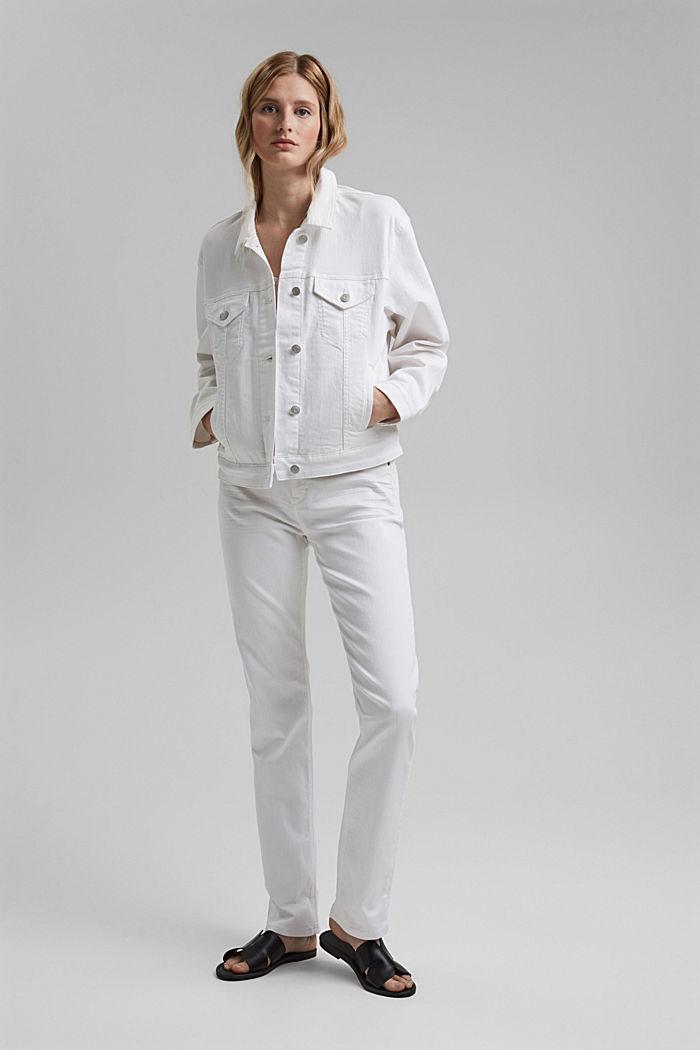 Denim jack met een oversized look, WHITE, detail image number 1