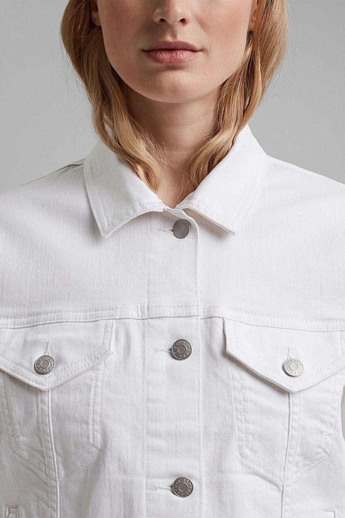 Denim jack met een oversized look, WHITE, detail image number 2
