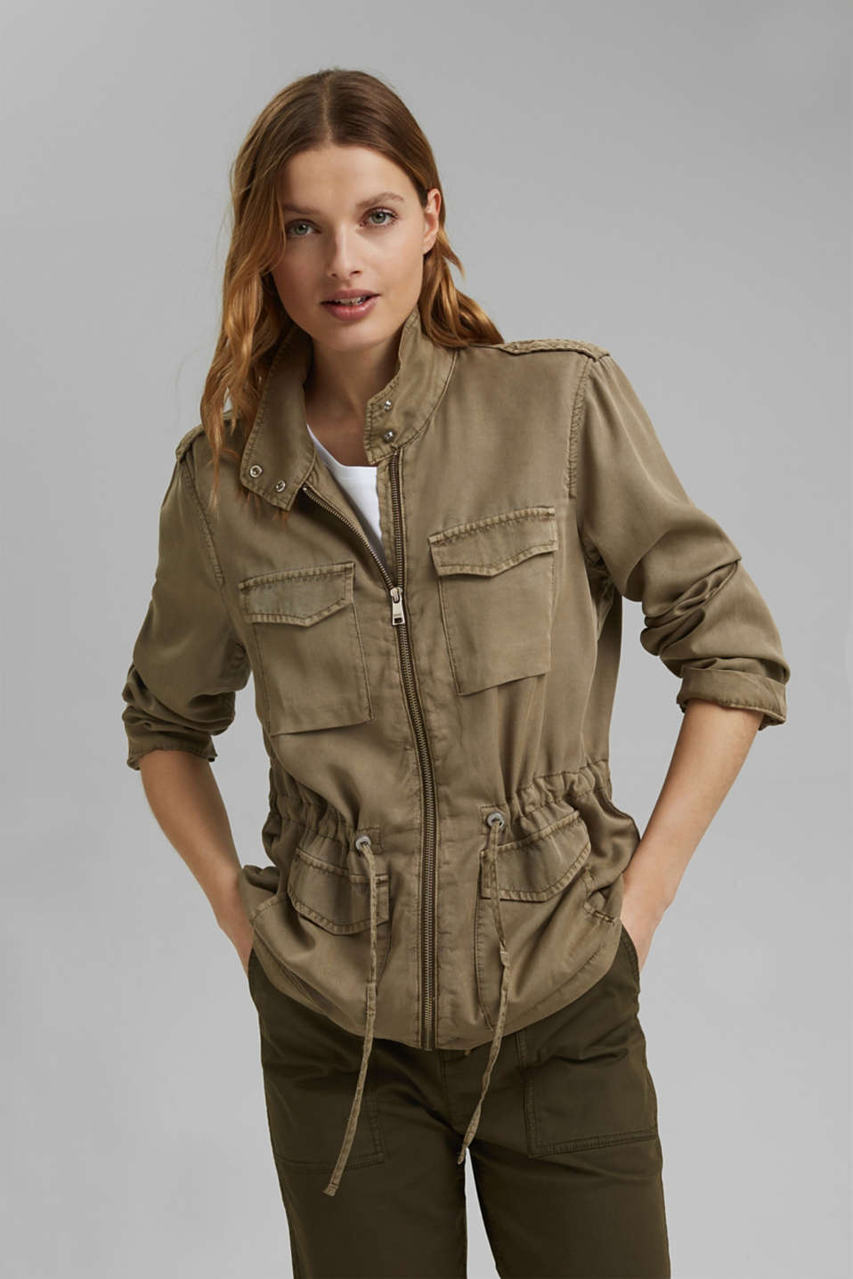 Esprit - TENCEL™: light jacket in lyocell