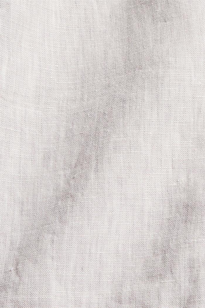 En lin: le blazer croisé, LIGHT BEIGE, detail image number 4