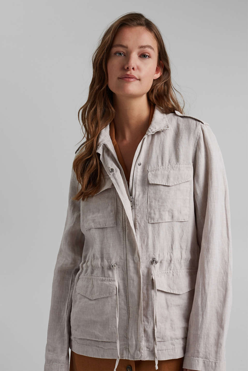 Esprit - Linen field jacket