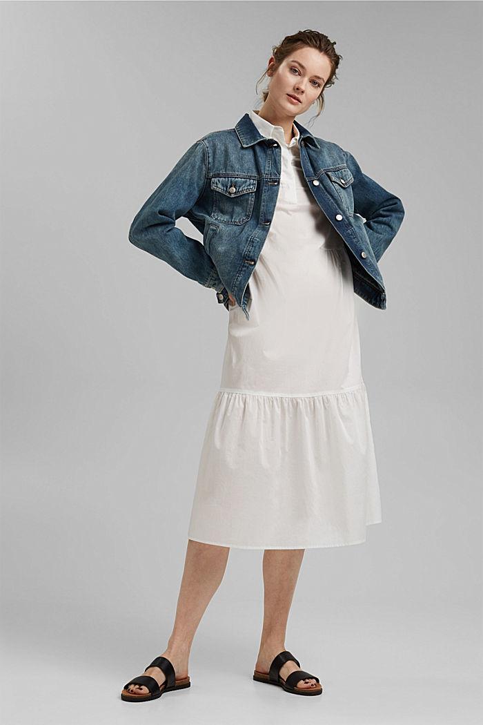 Denim jacket in a boyfriend fit, organic cotton
