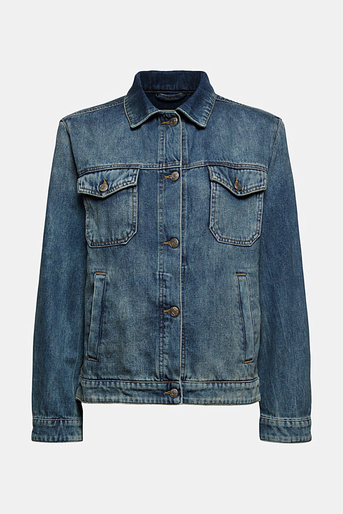 Veste en jean de coupe boyfriend, coton bio