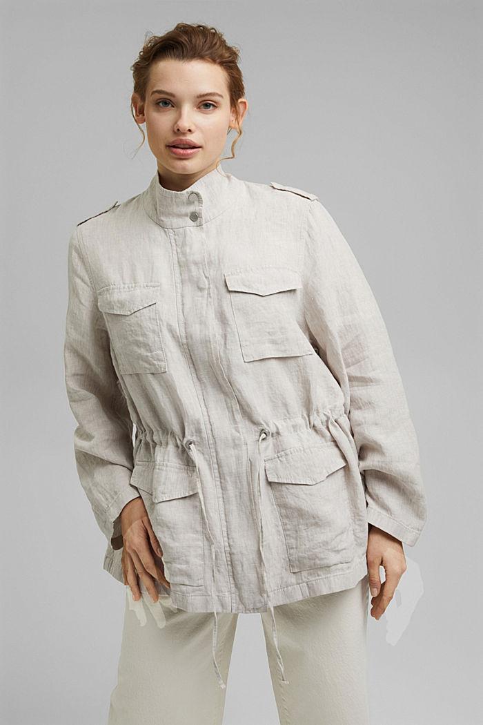 CURVY linen field jacket