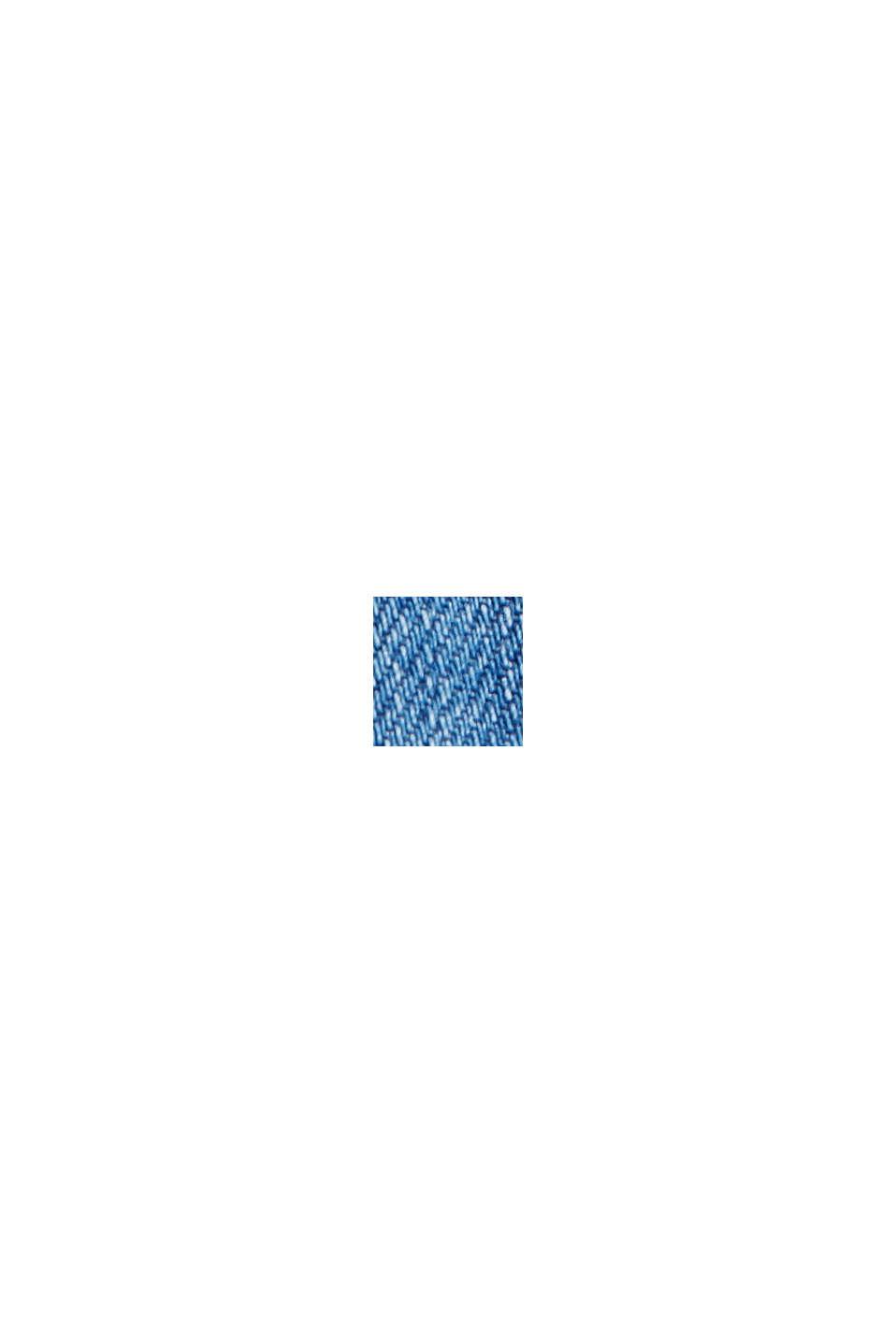 Oversized denim jacket made of organic cotton, BLUE MEDIUM WASHED, swatch