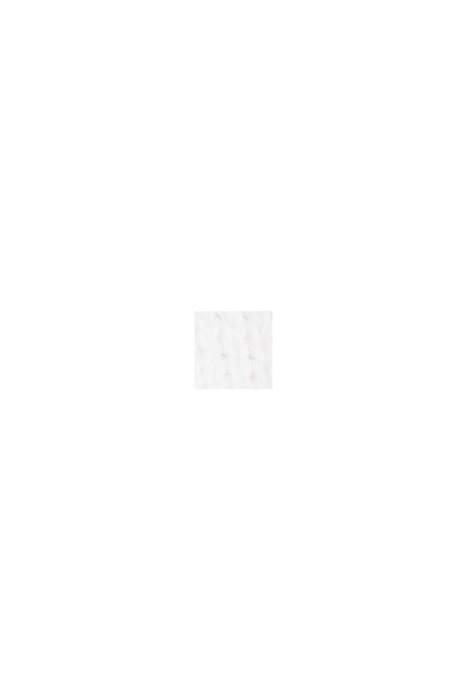Top in maglia di 100% cotone biologico, OFF WHITE, swatch