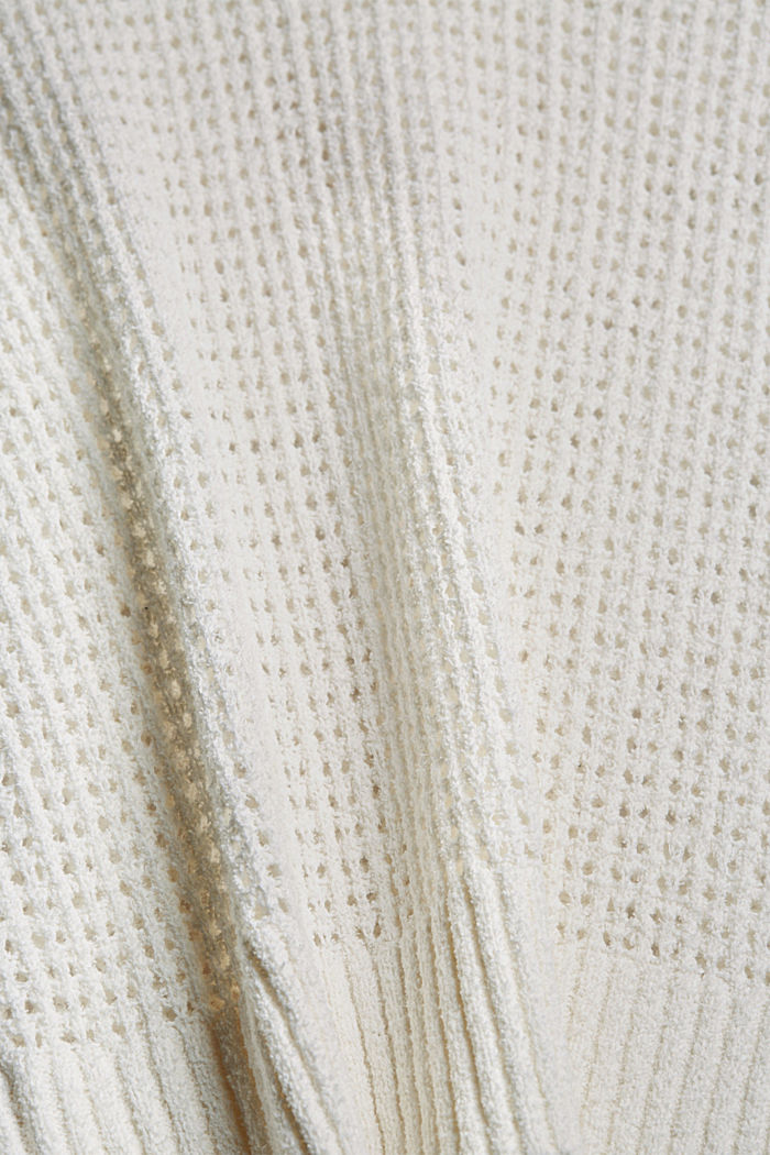 Pointelle jumper made of organic cotton, OFF WHITE, detail image number 4