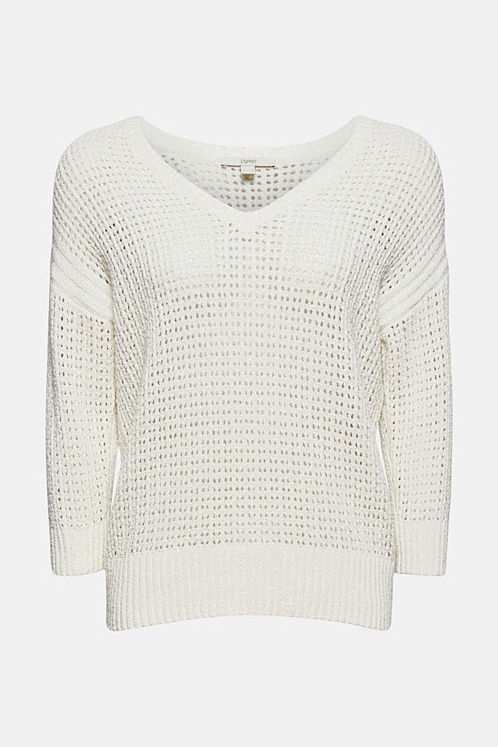 Pointelle jumper made of organic cotton