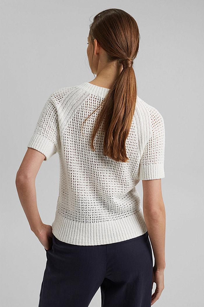Kurzärmeliger Pullover aus Organic Cotton, ICE, detail image number 3