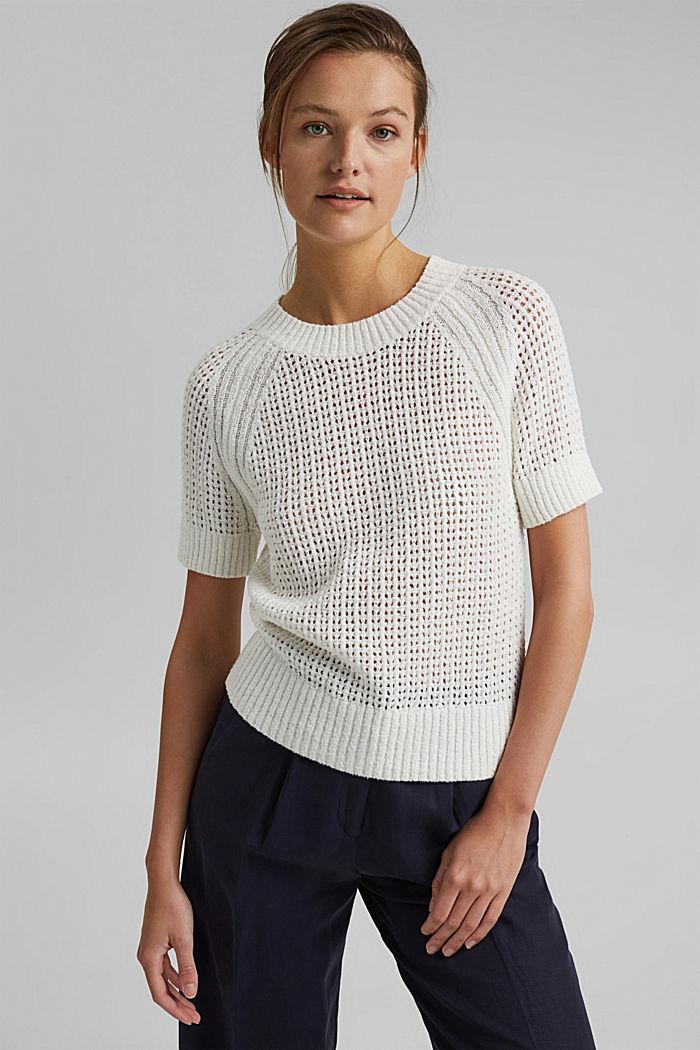 Kurzärmeliger Pullover aus Organic Cotton, ICE, detail image number 5