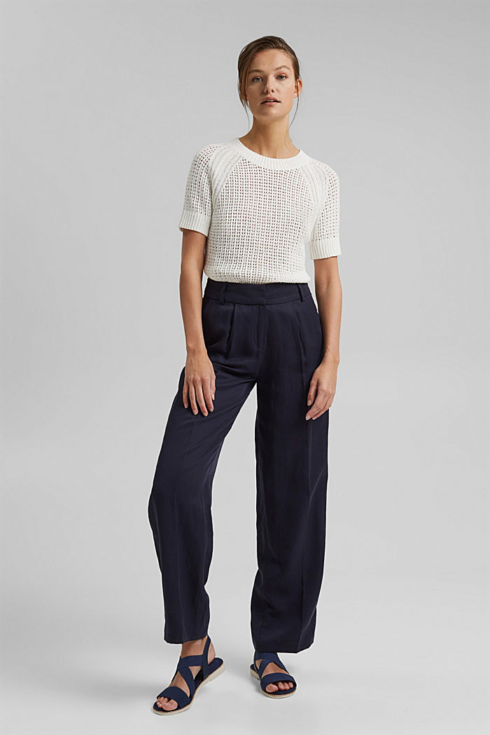 Kurzärmeliger Pullover aus Organic Cotton, ICE, detail image number 1
