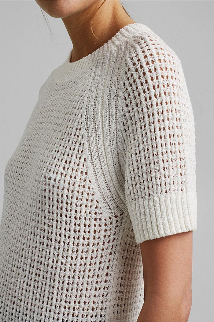 Kurzärmeliger Pullover aus Organic Cotton, ICE, detail image number 2