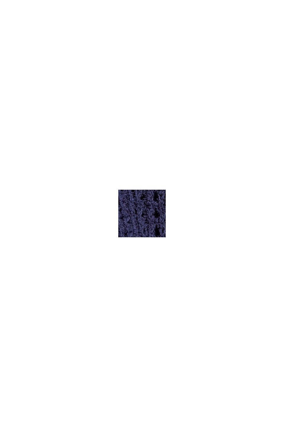 Pull-over à manches courtes en coton biologique, NAVY, swatch