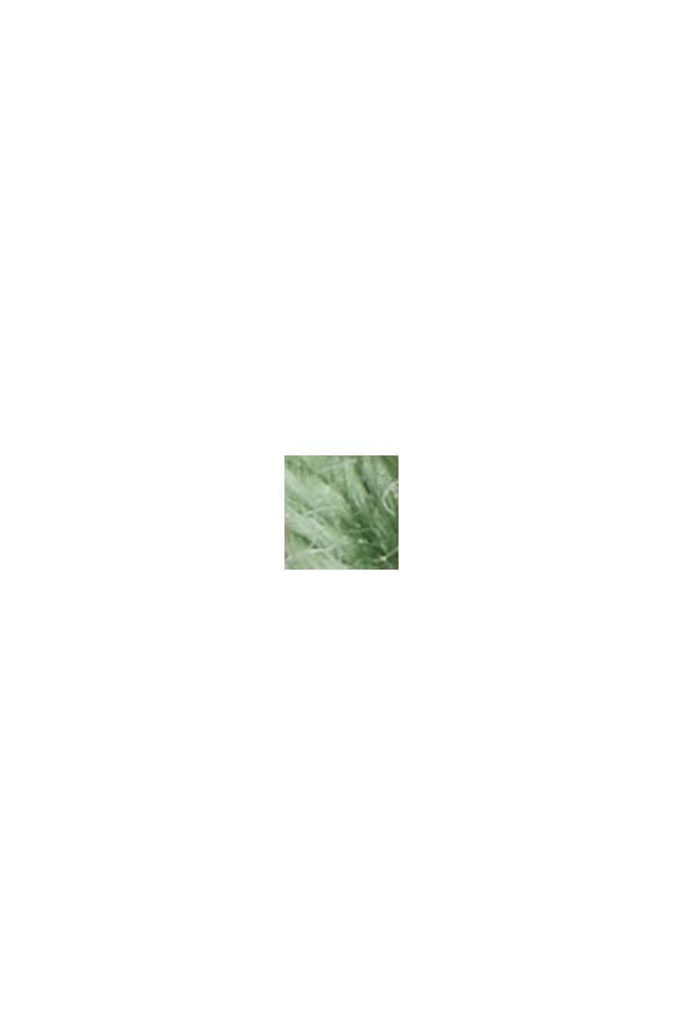 2-tone trui met korte mouwen en structuur, LEAF GREEN, swatch