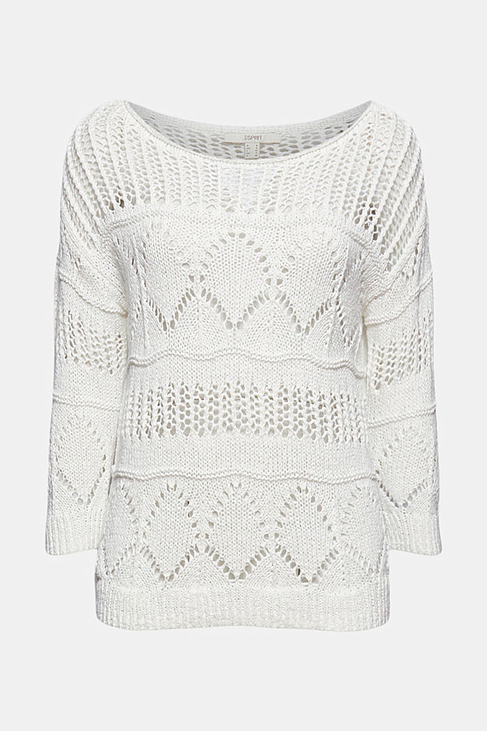 Ajour-Pullover aus Bändchengarn