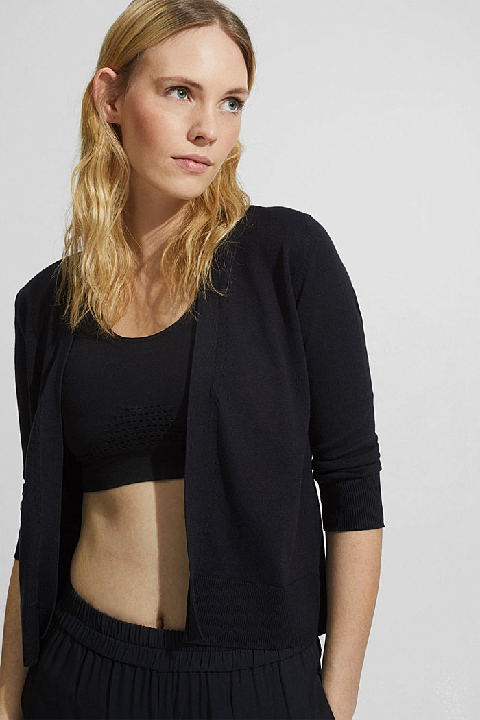 Open cardigan made of 100% organic cotton