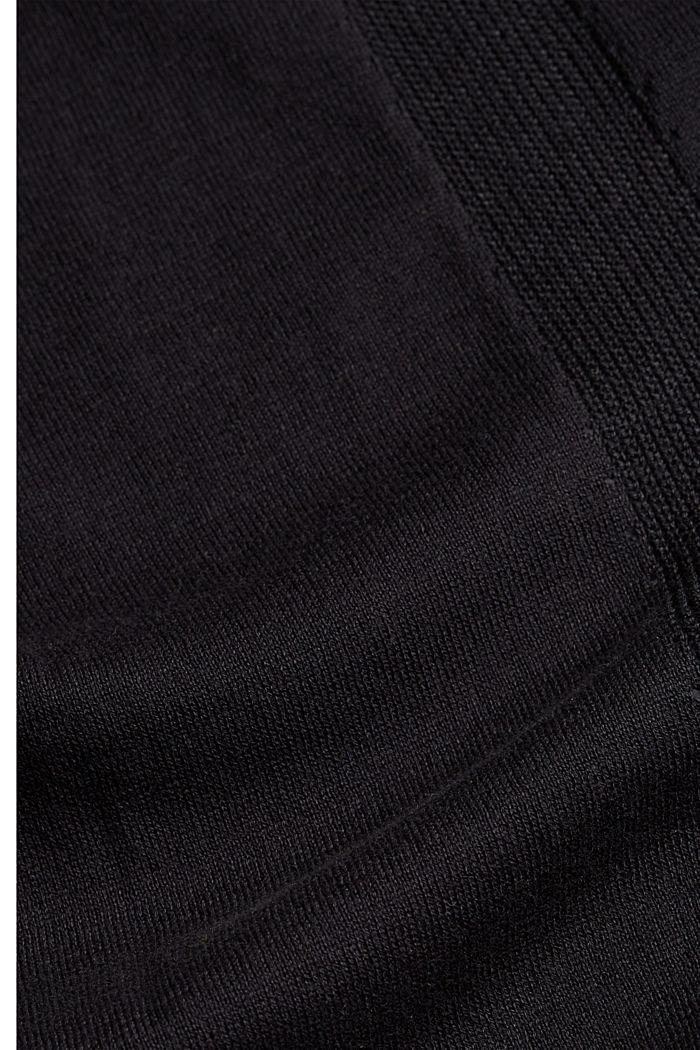 Open vest van 100% biologisch katoen, BLACK, detail image number 4